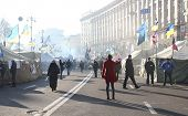 Protests in Kiev. Ukraine