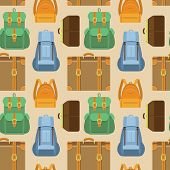 Vector Seamless Pattern In Flat Style - Travel