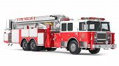 image of tank truck  - fire truck isolated at the white background - JPG