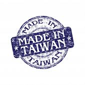 Made in Taiwan rubber stamp