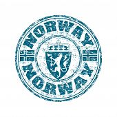 Norway grunge rubber stamp