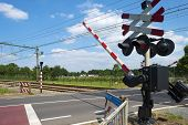 Closing barriers of a rail crossing