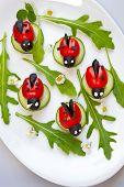 Tomato Ladybird Appetizer