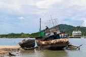 Old Rusty Fishing Boat
