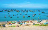 Many Boats At Fishing Village