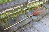 Handmade Twig Broom Among The Ruins Near Angkor Wat, Cambodia