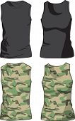 Black and Military Shirts template. Vector