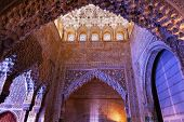 Square Shaped Domed Ceiling Sala De Los Reyes Alhambra Moorish Wall Designs Granada Andalusia