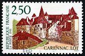 Postage Stamp France 1991 Carennac Castle, Lot Department