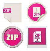 Zip Icon Set
