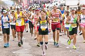 Joyful Runners And Spectators Enjoying Comrades Marathon