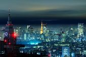 stock photo of kanto  - Tokyo city in the night - JPG