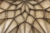 Detail of main entrance vault of Winchester Cathedral