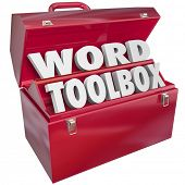 Word Toolbox 3d letters set of skills, projects and instructions learn spell, read understand vocabu