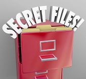 Secret Files Classified Confidential Information Filing Cabinet