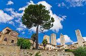 City walls and towers of San Gimignano, Tuscany