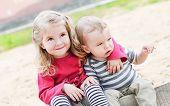 Cute Little Kids Hugging