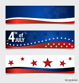 Happy independence day card United States of America. American Flag paper design, vector illustratio