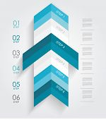Minimal Infographics Or Step Banners Template In Arrow Style. Vector.
