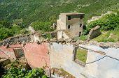 Ghost town Gairo Vecchio (Sardinia, Italy)