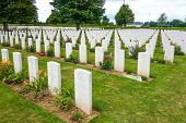 Omaha Beach, Normandy,France.- August 9: American War Cemetery on August 9, 2013. American War Cemet