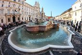 The Moor Fountain In Piazza Navona, Rome