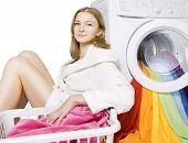 Girl And Washing Machine