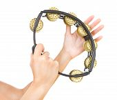 Hands With A Tambourine (hands Play The Tambourine)