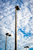 Three Tall Flood Lights