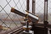 Eiffel Tower telescope on the observation deck