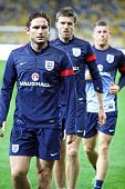 Frank Lampard, Michael Carrick And James Milner Of England