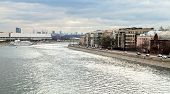Bolotnaya Embankment Along Canal Of Moskva River