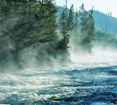 Fog on Yellowstone river