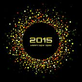 stock photo of glow  - Gold Bright New Year 2015 Background - JPG