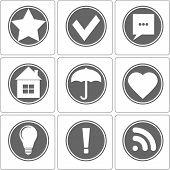 Simple Monochrome Icon, Vector