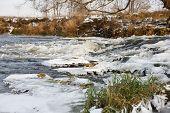 River ice. river in winter
