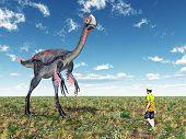 Gigantoraptor and Tourist