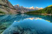 foto of ten  - Moraine lake in Banff National Park Canaga Valley of the Ten Peaks - JPG