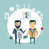 architect talking to a customer illustration