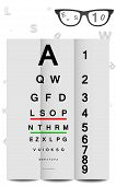 image of snellen chart  - Eye Chart in vector format - JPG