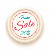 Final sale badge isolated on white background