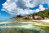 Enchanting Tropical Paradise of Seychelles - La Digue Island. A Perfect Venue for Tourist Destination. poster
