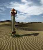 Water Hydrant In The Sand Dunes