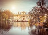 Royal Palace on the Water in Lazienki Park, Warsaw. Poland