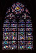Stained Glass Window In Notre Dame De Paris