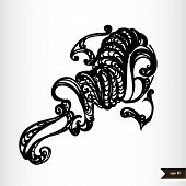 Zodiac signs black and white - Aquarius