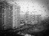 Raindrops on the window BW 001