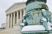 Supreme Court in Winter - Washington DC, United States