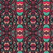 Vector seamless waves pattern