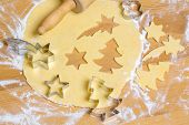 baking cookies and biscuits for christmas. anticipation of advent.